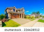 a perfect neighborhood. houses... | Shutterstock . vector #226628512