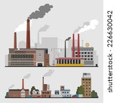 industrial factory buildings...   Shutterstock .eps vector #226630042