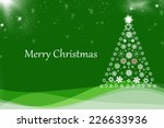 christmas background with... | Shutterstock . vector #226633936