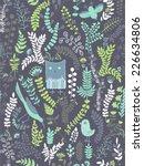funny seamless pattern. cartoon ... | Shutterstock .eps vector #226634806