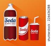 drinks design over orange... | Shutterstock .eps vector #226636288