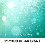 green blurred horizontal winter ... | Shutterstock .eps vector #226638286