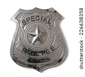 Special Police Badge With...