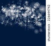 silver sparkle glitter... | Shutterstock . vector #226644742