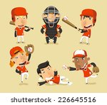 children baseball team  vector... | Shutterstock .eps vector #226645516