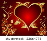 a valentines  illustration with ... | Shutterstock . vector #22664776
