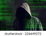 ransomware concept  faceless... | Shutterstock . vector #226649272