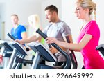 group of fitness people in... | Shutterstock . vector #226649992