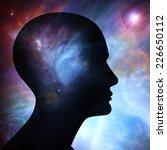 human head  space of elements... | Shutterstock . vector #226650112