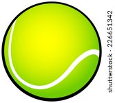 tennis ball icon | Shutterstock .eps vector #226651342