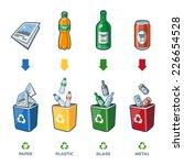 Four Recycling Bins...