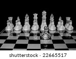 chess board complete with... | Shutterstock . vector #22665517