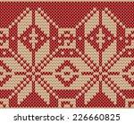 knitted seamless pattern... | Shutterstock .eps vector #226660825