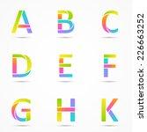 logo font letters a  b  c  d  e ...