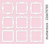 frame set on polka dot seamless ... | Shutterstock .eps vector #226670785