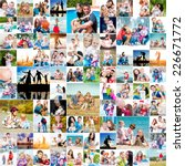 collection photos of happy... | Shutterstock . vector #226671772
