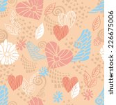 seamless pattern with hearts | Shutterstock .eps vector #226675006