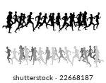 running people | Shutterstock .eps vector #22668187