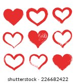 hand drawn painted heart ... | Shutterstock .eps vector #226682422