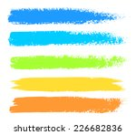 bright colors vector marker...