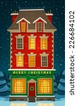 holiday in the house. christmas ... | Shutterstock .eps vector #226684102