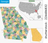 map of georgia state designed... | Shutterstock .eps vector #226686832