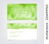 vector business card design... | Shutterstock .eps vector #226694962