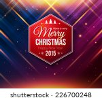 blue and purple christmas card. ... | Shutterstock .eps vector #226700248