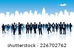 crowd of businesspeople... | Shutterstock .eps vector #226702762