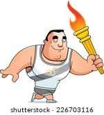 a cartoon olympic athlete... | Shutterstock .eps vector #226703116