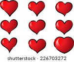 vector hearts | Shutterstock .eps vector #226703272
