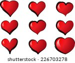 vector hearts | Shutterstock .eps vector #226703278