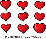 vector hearts | Shutterstock .eps vector #226703296