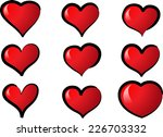 vector hearts | Shutterstock .eps vector #226703332