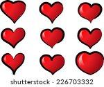 vector hearts | Shutterstock .eps vector #226703332