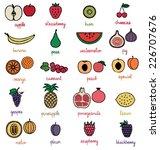 fruit icons set 2 | Shutterstock .eps vector #226707676