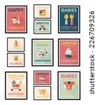 baby poster flat banner design... | Shutterstock .eps vector #226709326