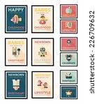 baby poster flat banner design... | Shutterstock .eps vector #226709632