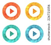 play button web icon   flat... | Shutterstock .eps vector #226721056