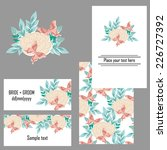 set of invitations with floral... | Shutterstock .eps vector #226727392