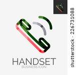 minimal line design logo  phone ... | Shutterstock .eps vector #226731088
