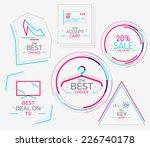 minimal line design shopping... | Shutterstock . vector #226740178