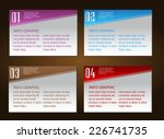 colorful modern text box... | Shutterstock .eps vector #226741735