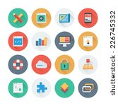 pixel perfect flat icons set... | Shutterstock .eps vector #226745332