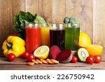 fruit and vegetable juice in... | Shutterstock . vector #226750942