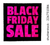 typography. black friday. sale. | Shutterstock .eps vector #226751086