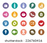 food and drinks color icons | Shutterstock .eps vector #226760416