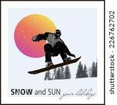 modern poster. snowboarder... | Shutterstock .eps vector #226762702