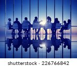 business meeting backlit... | Shutterstock . vector #226766842