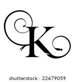 Letter K Free Vector Art